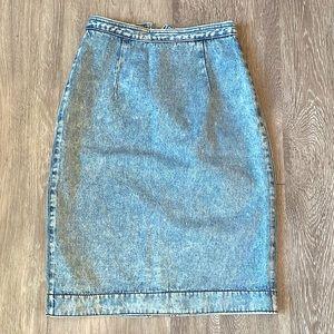 Pulse Vintage Denim Jean Pencil Skirt Size 2-6